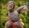Needle felted bunny- grey