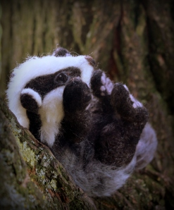 Needle felted badger (1)
