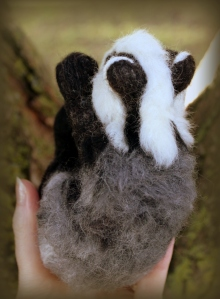 Needle felted badger (11)