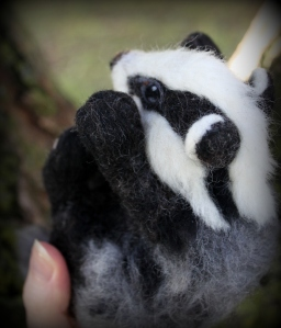 Needle felted badger (12)