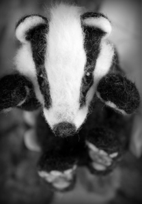 Needle felted badger (13)