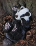 Needle felted badger!