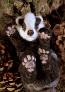 Needle felted badger (15)
