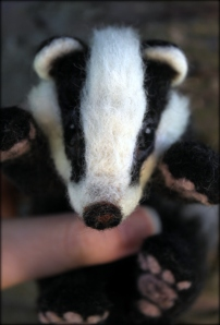 Needle felted badger (18)