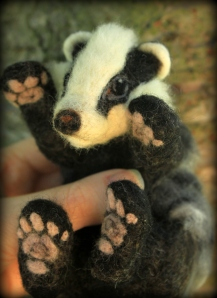 Needle felted badger (19)
