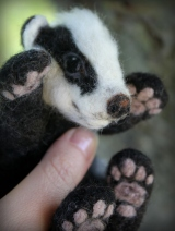 Needle felted badger (21)