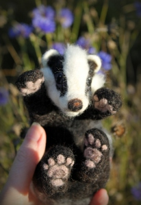 Needle felted badger (23)