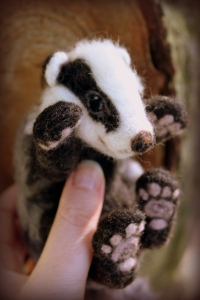 Needle felted badger (4)