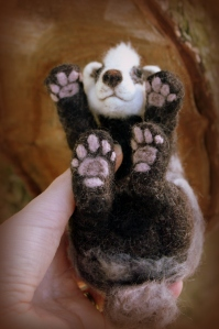 Needle felted badger (5)