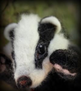 Needle felted badger (8)