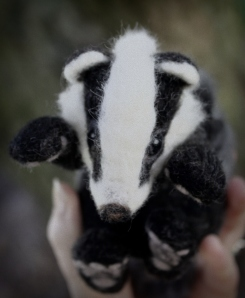 Needle felted badger (9)
