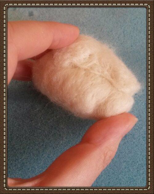 How to needle felt a badger head; photo tutorial (2/6)