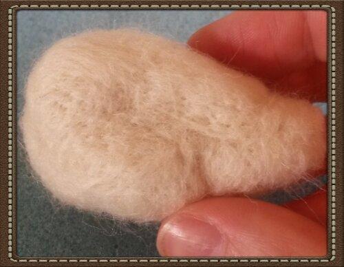 How to needle felt a badger head; photo tutorial (5/6)