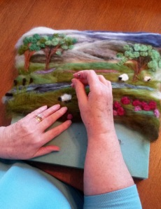 Beside quiet waters (landscape felting ideas)