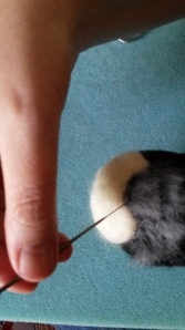 How to needle felt long animal fur (10)
