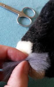 How to needle felt long animal fur (12)