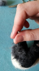 How to needle felt long animal fur (15)