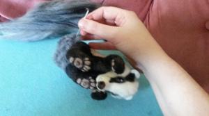 How to needle felt long animal fur (17)