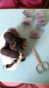 How to needle felt long animal fur (18)