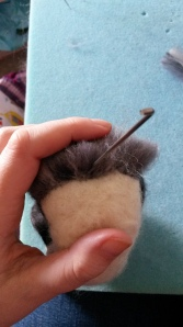 How to needle felt long animal fur (19)
