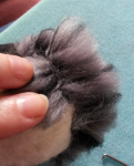 How to needle felt long animal fur