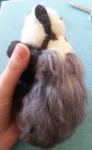 How to needle felt long animal fur (22)
