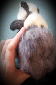 How to needle felt long animal fur (23)