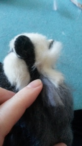 How to needle felt long animal fur (25)