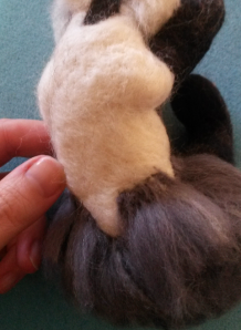 How to needle felt long animal fur (26)