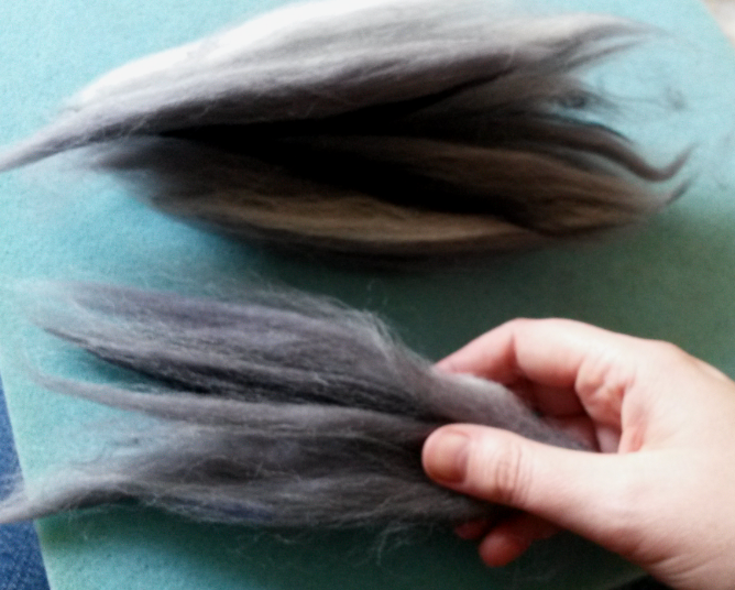 How to needle felt long animal fur (6/6)