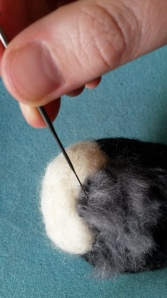 How to needle felt long animal fur (9)