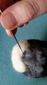 How to needle felt long animal fur (9)