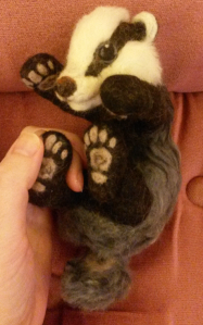 Needle felted badger latest