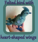 felted bird