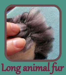 Felting long animal fur