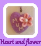 Heart and flower