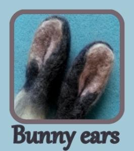 Needle felt Bunny ears