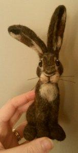 Needle felted bunny
