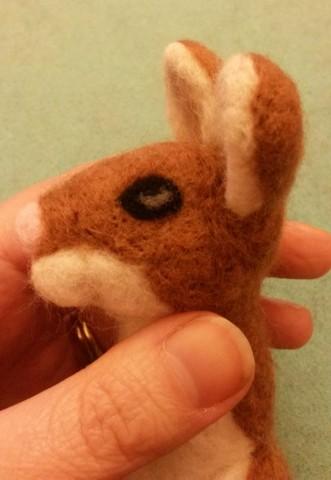 How to needle felt animal eyes (6/6)