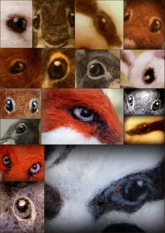 How to needle felt animal eyes (1/6)