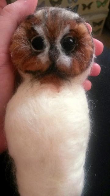 Needle felting a Tawny Owl - photo tutorial (5/6)