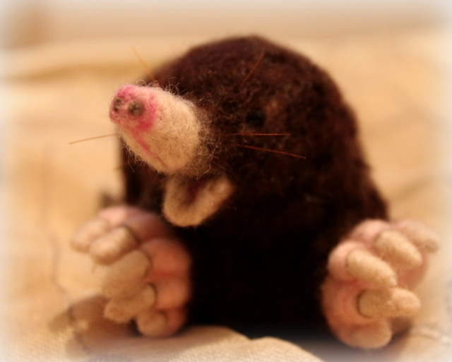 Needle felted Mole (1/6)