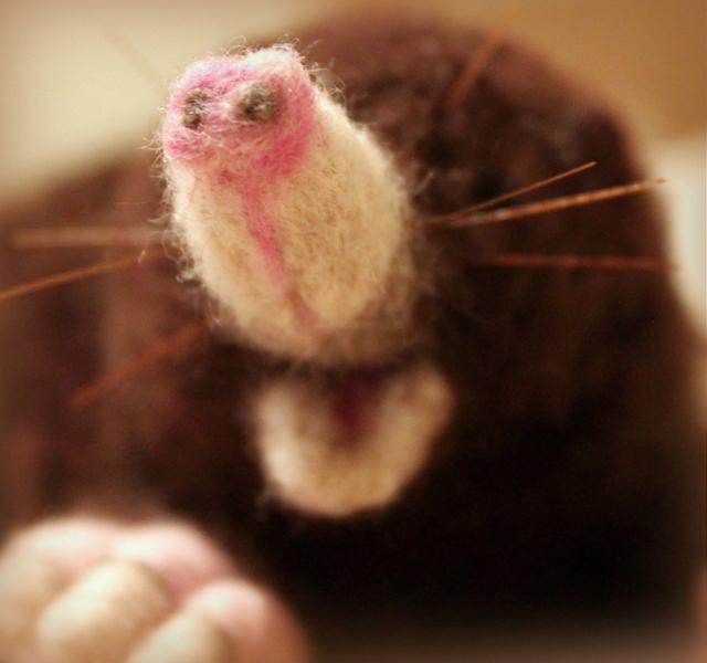 Needle felted Mole (6/6)