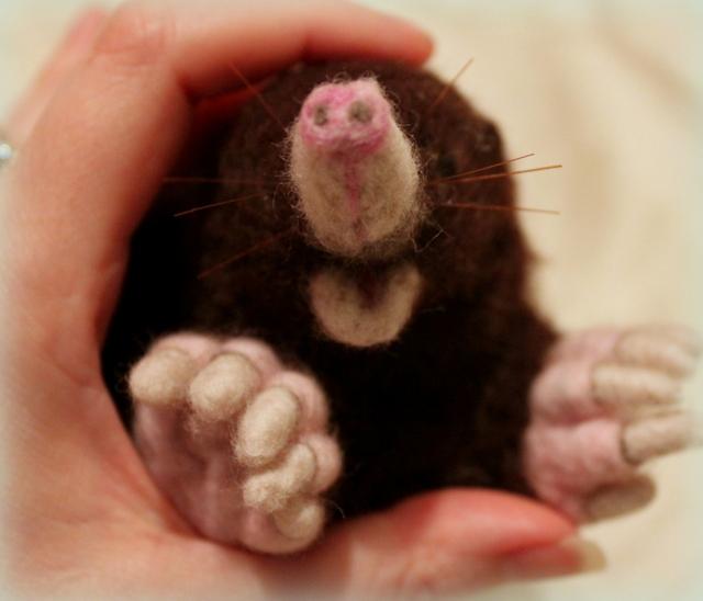 Needle felted Mole (5/6)