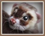 Needle felted ferret!!
