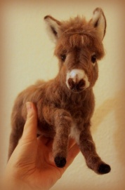 Needle felted donkey 3