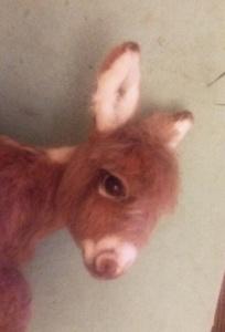 Needle felted donkey 12
