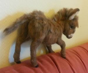 Needle felted donkey 13