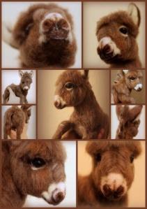 Needle felted donkey 4