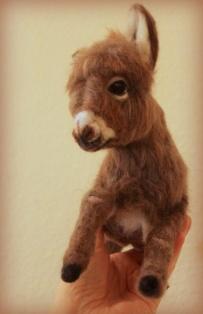 Needle felted donkey 5